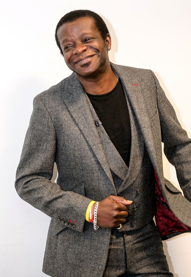 Stephen K Amos at Kingston University\'s 2015 Media Summit.