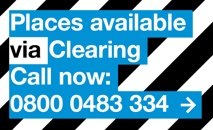 Places available via Clearing. Call now 0800 0483 334