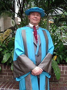 Richard Selley was honoured by the university in 2006.