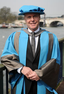 Creative director and executive vice-president of design for Banana Republic Simon Kneen in Kingston upon Thames to accept an honorary degree.