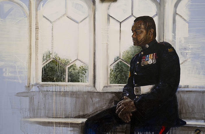 Nick Lord's portrait of Lance Corporal Johnson Beharry
