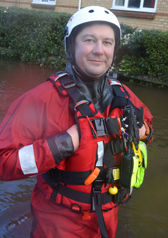 Dr Ian Greatbach stepped out of the lecture theatre to share his knowledge co-ordinating the emergency response to the flooding in Chertsey.