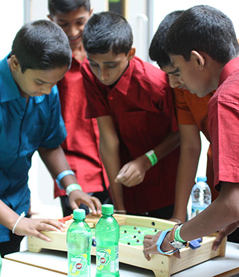 Students attending the convention got stuck into a number of different activities and games.