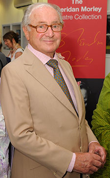 Broadcaster David Jacobs attended the launch of Kingston University's Sheridan Morley Theatre Collection in 2009.