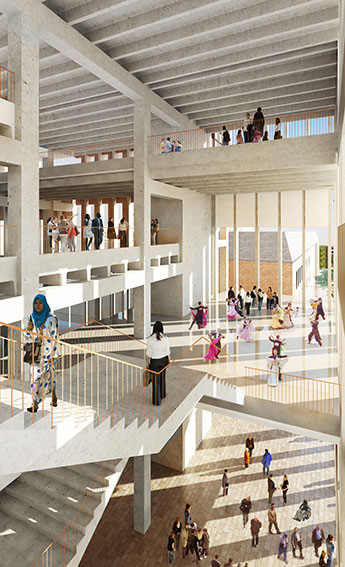 The aim of the proposed new building is to revolutionise the way students learn.