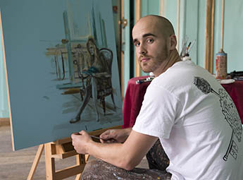 Fine Art graduate Nick Lord wins Sky Arts Portrait Artist of the Year Award