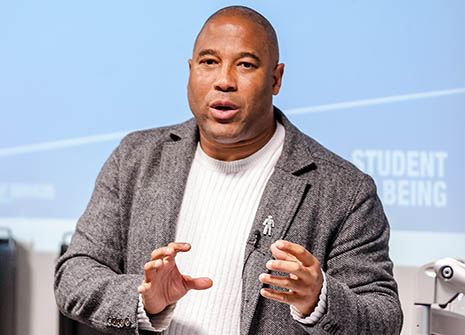 Former Liverpool and England footballer John Barnes told Kingston University students no one could afford to be complacent about racism