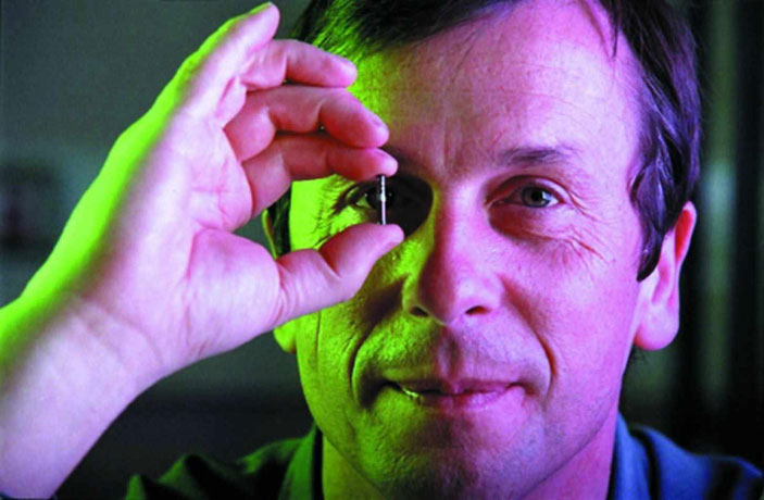 In 1998 Professor Kevin Warwick had a silicon chip surgically implanted in his forearm that allowed him to operate doors, lights and computers without touching them.