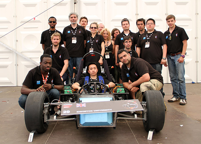 Kington University's e-Racing team boasts members from all corners of the globe.