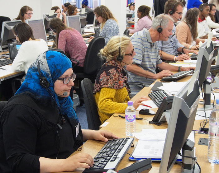 By the end of the first day, there had been more than 14,000 calls made to the Kingston University Clearing hotline.