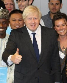 London Mayor Boris Johnson was impressed by Kingston's green credentials at this year's Low Carbon Prize ceremony.