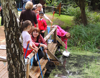New pond-dipping platform at Kingston Hill