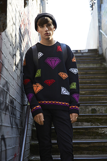 A jumper by Kingston University fashion student Trina Outram is being snapped up by Topman customers. Image: Topman