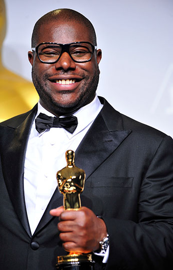 Steve McQueen became the first black director to pick up a best picture Oscar at this year's Academy Awards for his film 12 Years a Slave. Photo: PictureGroup/REX