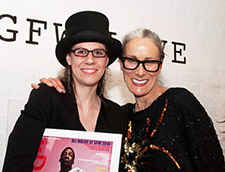 Marilina Tsitsa with founding member of All Walks Caryn Franklin