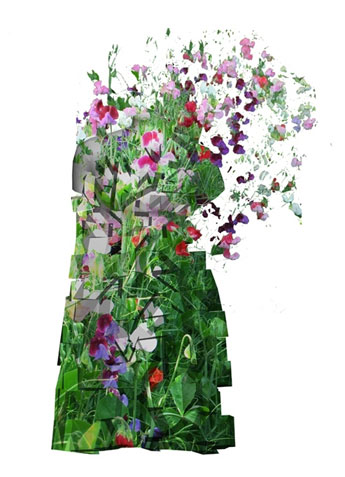 Bez Baik came up with the concept for a dress that incorporates living plants.