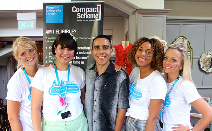 Student Ambassadors with a compact scheme student
