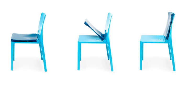 Giho Yang's chair is designed to fit children of all secondary school ages.