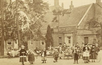 Children playing outside Cromwell House c.1900. Patients were encouraged to get as much fresh air as possible.