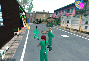Being called out to a nightclub to attend to a female patient is just one activity students are tasked with as part of the paramedic course which is being taught in Second Life.