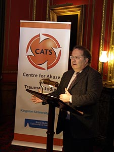 John Carr, Chair of the Children's Charities Coalition on Internet Safety, spoke at the official launch of the centre.