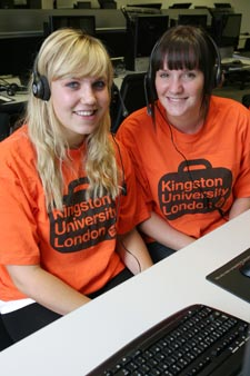 Kingston student Tiffany Cavanagh (right) is ready to help students follow in her footsteps and enter the University through Clearing.