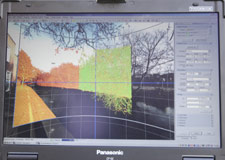 The scanner is able to record accurate measurements of trees and walls to the nearest millimetre