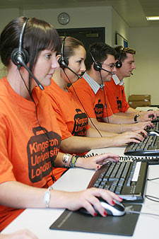 Specially-trained student Clearing hotline operators have been taking calls from higher education hopefuls.
