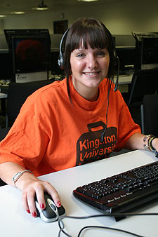 Clearing hotline operator Tiffany Cavanagh