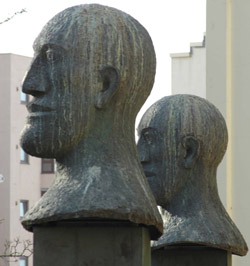 The bronze heads designed by the late Dame Elisabeth Frink have been an imposing feature at the Montague Shopping Centre in Worthing since 1990. Picture: Chris Lowe