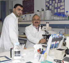 Researcher Said Khelwatty (left) and principal investigator Dr Helmout Modjtahedi (right), from Kingston University hope their research will identify signs which could indicate how patients respond to treatment with anti-cancer drugs.