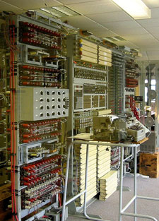 The rebuilt Colossus codebreaking machine at Bletchley Park dates back to the Second World War.