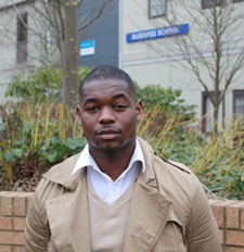 David Olusegun hopes he can inspire other young people from similar backgrounds to go to university.