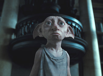 Dobby is the creation of Kingston graduate Christian Manz and his team at Framestore. Image courtesy of Framestore and Warner Bros.