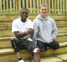 Royal Marines Mark Ormrod and Ben McBean, who were injured in Afghanistan, have both benefitted from care offered by SSAFA.
