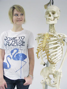 Francesca Houston found herself sizing up a career in radiography after a call to Kingston University's Clearing hotline.