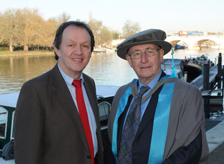 Tv star Kevin Whately said he was delighted his brother Frank's achievements had been recognised by Kingston University.