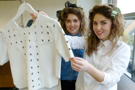 The duo have used techniques such as laser cutting in their final year fashion project.