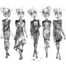 Fashion student Harriet de Roeper's work was included in the winning portfolio.