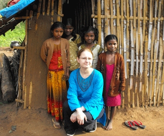 Kate Ofman was one of 10 students who travelled to the southern district of Mysore in India.