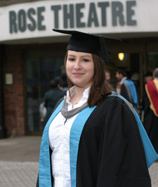 Mathematical science graduate Katie Bateman scooped two awards on graduation day as well as her First Class degree.