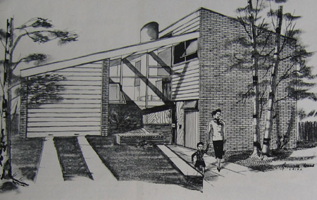 A sketch of one of Kenneth Wood's designs.