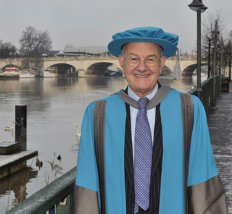 Lord Judge received his honorary doctorate at a ceremony in Kingston.