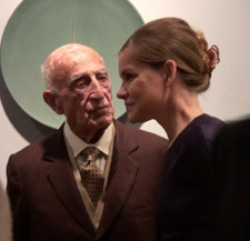 Professor Gillo Dorfles and Dr Lisa Hockemeyer at the launch of Terra Incognita: Italy's Ceramic Revival.
