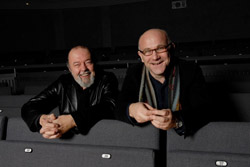 World-renowned theatre director and University Chancellor Sir Peter Hall and The Rose Theatre's Artistic Director Stephen Unwin believe the new courses will enhance training for the next generation of artists. (Photo by Chris Pearsall)