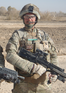 Student Etienne Le Roux completed two tours of duty in Afghanistan.