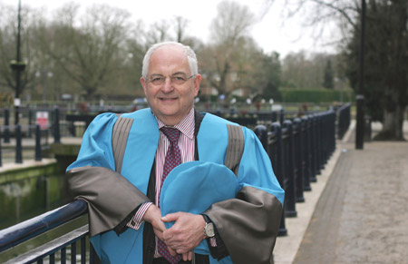 Martin Wolf was delighted to receive an honorary degree from Kingston University for his lifetime's work.
