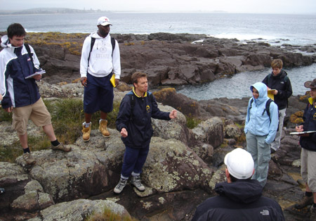 Field work is a key part of earth sciences studies at Kingston University.