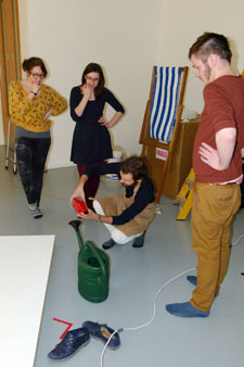 Students have been working with artist and designer Daniel Eatock, selecting objects and curating the exhibition.