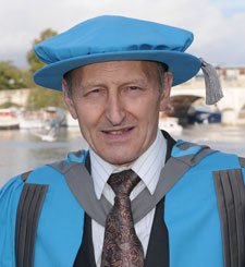 Professor Thomas Bolton, who has been awarded an honorary doctorate from Kingston University.